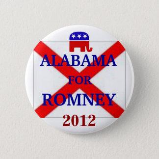 ALABAMA for Romney 2012 6 Cm Round Badge