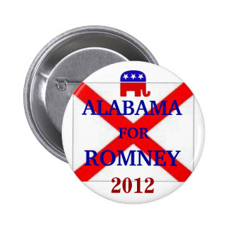 ALABAMA for Romney 2012 Pinback Button