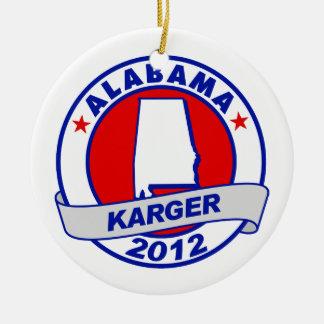 Alabama Fred Karger Christmas Ornaments