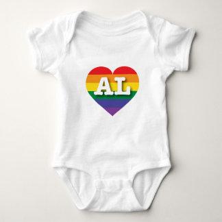 Alabama Gay Pride Rainbow Heart - Big Love T Shirt