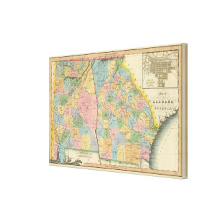 Alabama, Georgia Canvas Print