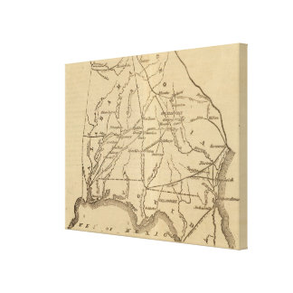 Alabama, Georgia, Florida Canvas Print