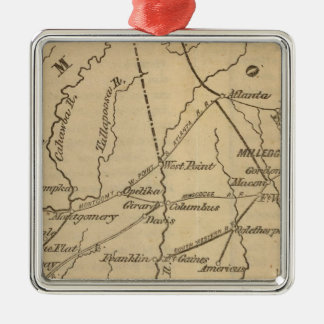 Alabama, Georgia, Florida Christmas Ornament