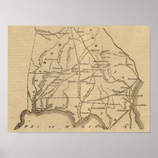Alabama, Georgia, Florida Poster