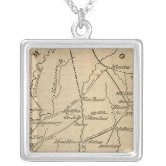 Alabama, Georgia, Florida Silver Plated Necklace