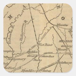Alabama, Georgia, Florida Square Sticker