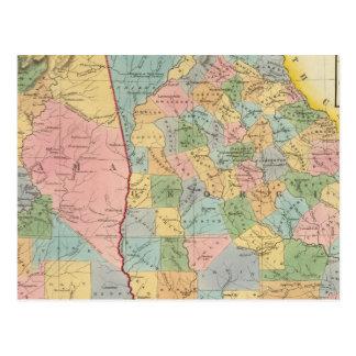 Alabama, Georgia Postcard