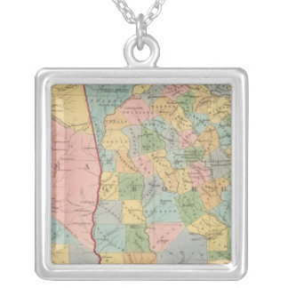 Alabama, Georgia Silver Plated Necklace