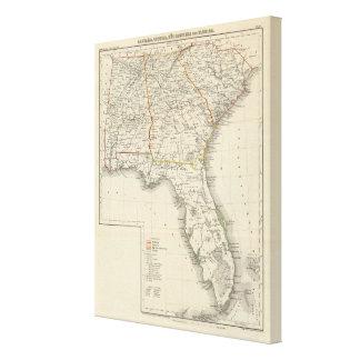 Alabama, Georgia, South Carolina, and Florida Canvas Print