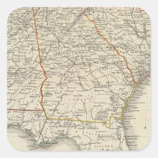 Alabama, Georgia, South Carolina, and Florida Square Sticker