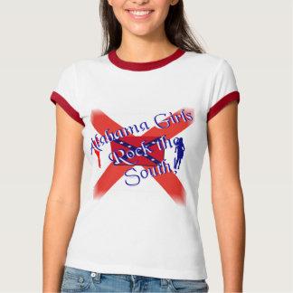 Alabama Girls Ladies Ringer T-Shirt