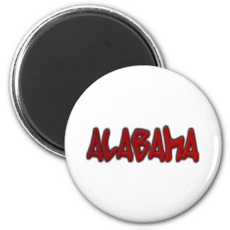 Alabama Graffiti 6 Cm Round Magnet