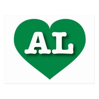 Alabama green heart - Big Love Postcard