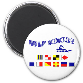 Alabama Gulf Shores 1 6 Cm Round Magnet
