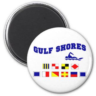 Alabama Gulf Shores 2 6 Cm Round Magnet