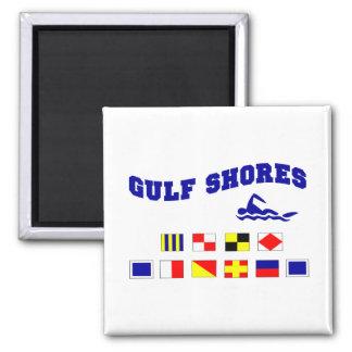 Alabama Gulf Shores 2 Square Magnet
