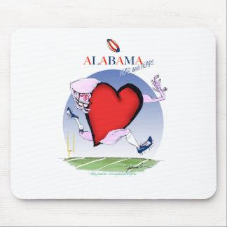 alabama head heart, tony fernandes mouse mat