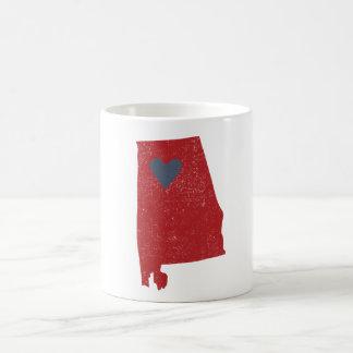 Alabama Heart mug (crimson) - Customizable!