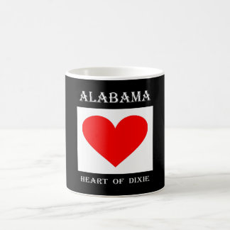 Alabama Heart of Dixie Basic White Mug