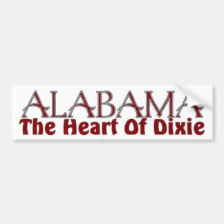 Alabama heart of Dixie bumper stickers