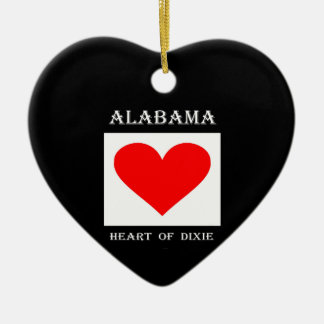 Alabama Heart of Dixie Christmas Ornament