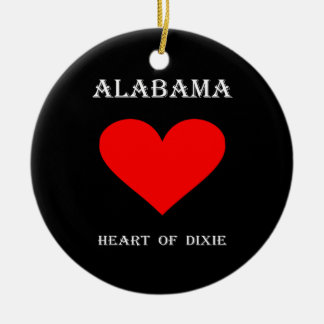Alabama Heart of Dixie Christmas Ornament