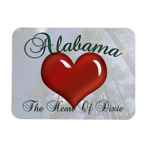 Alabama Heart Of Dixie Flexible Magnet