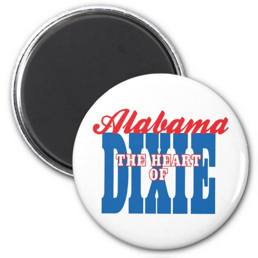 Alabama Heart of Dixie Magnets