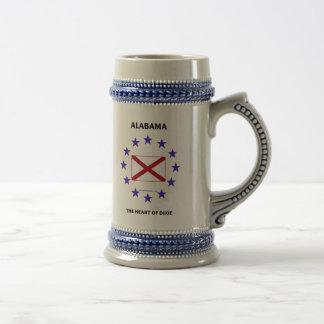 Alabama Heart of Dixie Beer Steins