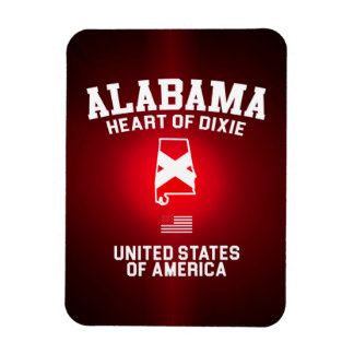 Alabama Heart of Dixie Rectangular Photo Magnet