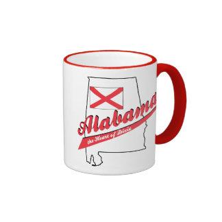 Alabama Heart of Dixie Ringer Mug