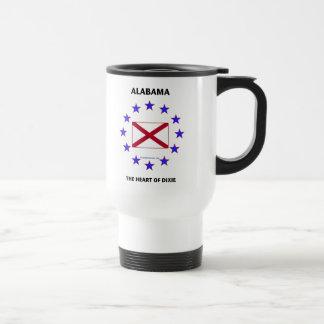 Alabama Heart of Dixie Stainless Steel Travel Mug