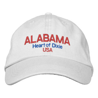 Alabama* Heart of Dixie USA Hat Embroidered Hat