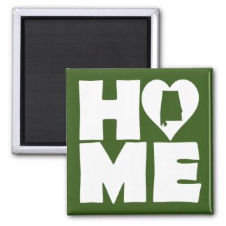 Alabama Home Heart State Fridge Magnet