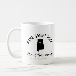 Alabama Home Sweet Home Family Monogram Mug
