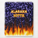 Alabama Hottie fire and flames blue marble.