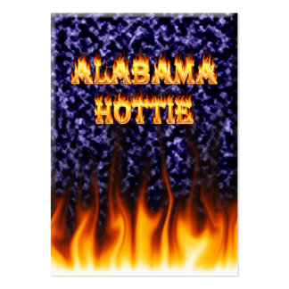 Alabama Hottie fire and flames blue marble. Pack Of Chubby Business Cards