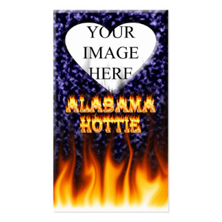 Alabama Hottie fire and flames blue marble. Pack Of Standard Business Cards