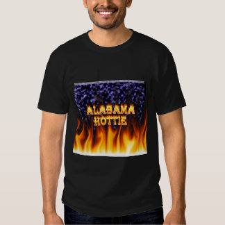 Alabama Hottie fire and flames blue marble. Tshirt