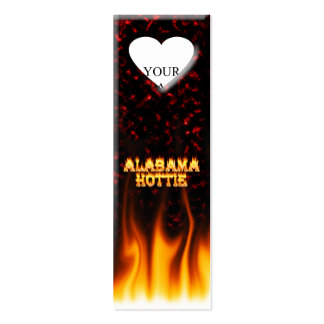 Alabama Hottie fire and flames Red marble Double-Sided Mini Business Cards (Pack Of 20)