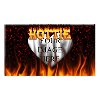 Alabama hottie fire and flames red marble business card