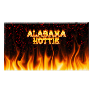 Alabama Hottie fire and flames Red marble Business Card Templates