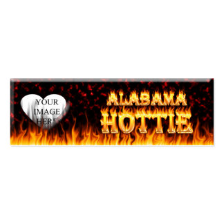 Alabama hottie fire and flames red marble pack of skinny business cards