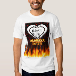 Alabama Hottie fire and flames Red marble. T Shirts