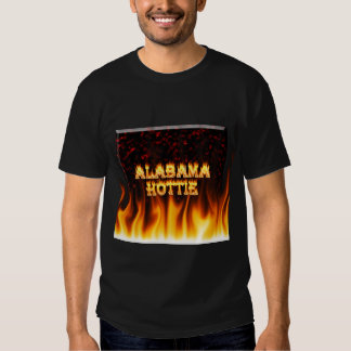Alabama Hottie fire and flames Red marble. Tshirt