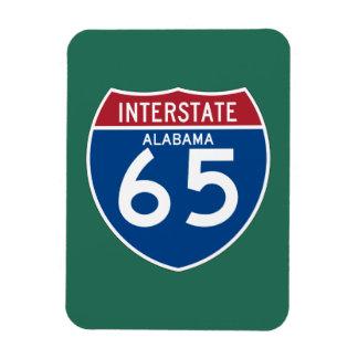 Alabama I-65 Interstate Highway Shield - AL Rectangular Photo Magnet
