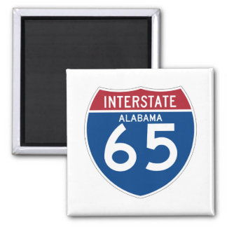 Alabama I-65 Interstate Highway Shield - AL Square Magnet