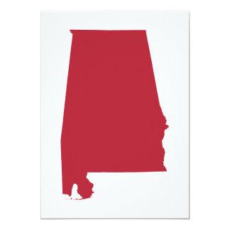 Alabama in Red 13 Cm X 18 Cm Invitation Card
