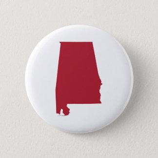 Alabama in Red 6 Cm Round Badge