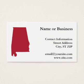 Alabama in Red Business Card